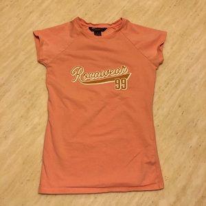 New Rocawear 99 Logo Tee Orange/Pink Size S